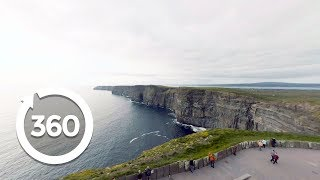 Download Ireland's Cliffs of Moher in Stunning Virtual Reality! ☘ (360 Video) Video