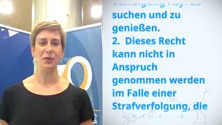 Download Marie Theres Strauss, Germany, reading article 14 of the Universal Declaration of Human Rights Video