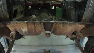 Download 1957 chevy belair one piece trunk pan install Video