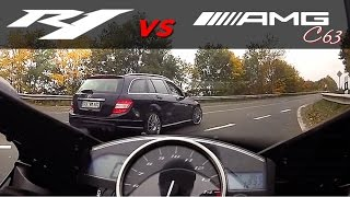 Download Yamaha R1 vs +530HP Mercedes-Benz +300km/h Video