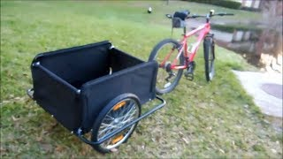 Download New! Aosom Elite II bike cargo trailer (Unboxing and more) Video