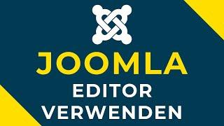 Download Joomla Editor verwenden Video