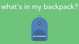 Download what's in my backpack? 2016 Video