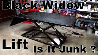 Download Black Widow Air/ Hydraulic ATV Lift Table Review Video
