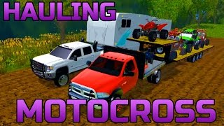 Download FARMING SIMULATOR 2015 | HAULING TOYS AND CAMPER TO THE TRACK Video