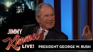Download Jimmy Kimmel's FULL INTERVIEW with President George W. Bush Video