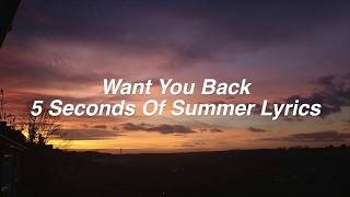 Download Want You Back || 5 Seconds Of Summer Lyrics Video