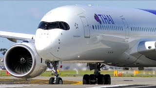 Download POWERFUL Airbus A350 CLOSE-UP Takeoffs | Melbourne Airport Plane Spotting Video