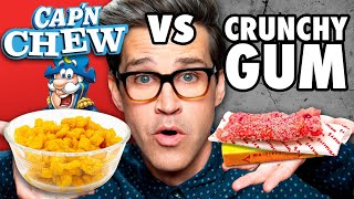 Download Chewy Crunchy Food vs. Crunchy Chewy Food Taste Test Video