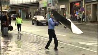 Download Strong Winds Knock Down Pedestrians, Trees In Brussels And Amsterdam Video