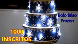 Download Melhor vídeo de bolo falso Frozen com luzes. Fake cake. Torta falsa. Video