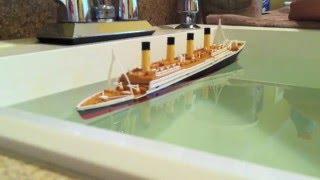 Download R.M.S. Titanic Model Sinking Video