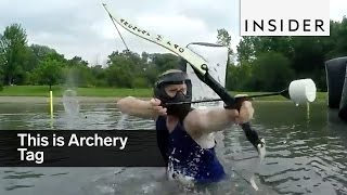 Download Archery Tag is like paintball but way more fun Video