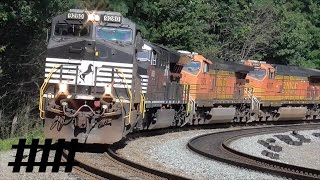 Download Norfolk Southern Trains and Helper Engines at Horseshoe Curve in Altoona, PA Video
