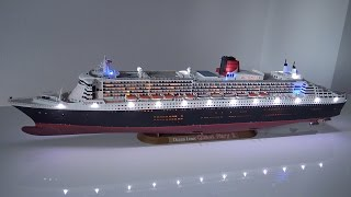 Download Queen Mary 2 Revell 1:400 LED build story Video