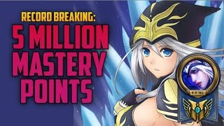 Download 5,000,000 MASTERY POINTS ASHE- Highest Mastery Points on a Single Champion Video