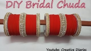 Download DIY Bridal Chuda: Make your own bridal chuda from old bangles at home in few easy and simple steps Video