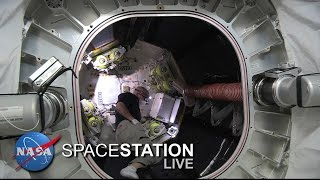 Download Space Station Live : Astronaut Jeff Williams Enters BEAM Expandable Module Video
