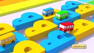 Download Wheels on the Bus Alphabets Rhyme | round and round | Kindergarten | Parents | Preschool Kiddiestv Video