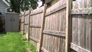 Download Fence damage from neighbor's dog Video