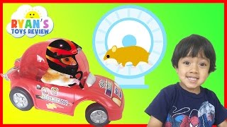 Download Hamster Pet first Toy Car Wheel and Exercise Ball kids video Ryan ToysReview Video