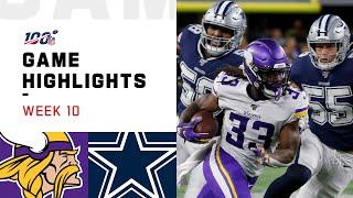 Download Vikings vs. Cowboys Week 10 Highlights | NFL 2019 Video