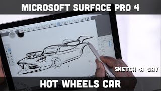 Download Microsoft Surface Pro 4: Sketching a hotwheels style car Video