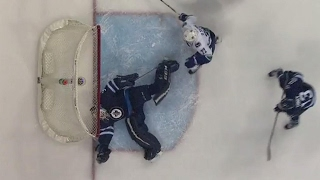 Download Hutchinson makes lucky save despite puck going wide Video