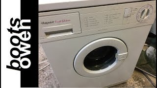 Download Old Hotpoint washing machine tour Video