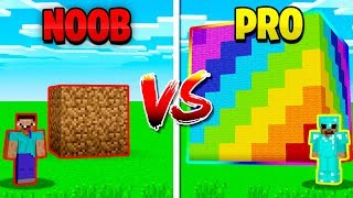 Download MINECRAFT NOOB vs PRO GIANT RAINBOW CUBE! Video