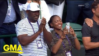 Download Tennis phenom's parents relive daughter's historic Wimbledon match l GMA Video