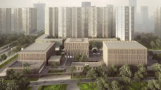 Download Longhua Art Museum and Library, Shenzhen, China. Video