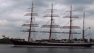 Download Russian Tall Ships (Sail 2015): Mir + Kruzenshtern + Sedov leaving Amsterdam Video