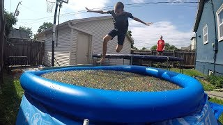 Download 1 Million Orbeez + Swimming Pool + Trampoline Video