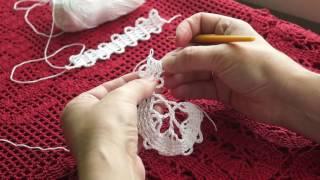 Download Вязание кружева в технике брюгге часть 2(crochet Bruges)针织布鲁日 (узор#30) Video