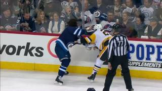 Download Penguins & Jets settle beef early with two fights including Malkin vs Wheeler Video