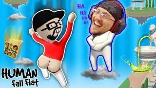 Download FUNNIER w/ BUTTS! Super Weird Game: HUMAN FALL FLAT! FGTEEV FLOPPY NERD Gameplay Video