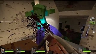 Download MOTOSIERRA DESTROZA ZOMBIS!! - Willyrex Y sTaXx - MINECRAFT MOD - LEFT 4 DEAD 2 [Parte 3] Video