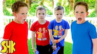 Download Noah's Twin Attacks! Nerf War with Twin Toys Video