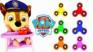 Download Fidget Spinners Learning Colors With Paw Patrol Chase Skye School with Gumballs, Finger Family Song Video