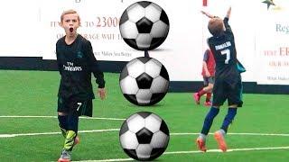 Download Boy Scores 3 Soccer Goals in 1 Soccer Game! HAT TRICK! ⚽️ ⚽️ ⚽️ Video