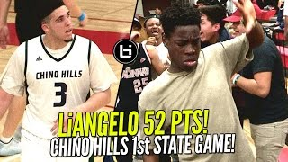 Download LiAngelo Ball 52 Pts In Chino Hills CRAZY 1st State Game! LaMelo Triple Double + EPIC Dance Battle! Video
