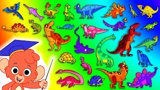 Download Dinosaur ABC   Learn the Alphabet with 26 CARTOON DINOSAURS for children   t rex t-rex   Club Baboo Video