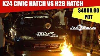 Download K24 Honda Civic hatch vs H2b Civic Eg Hatch Video