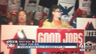 Download Fight for $15: Minimum wage rally in KCMO Video