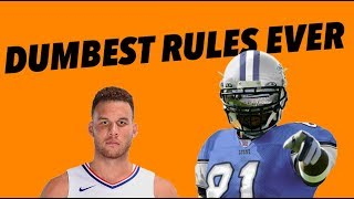 Download THE FIVE DUMBEST RULES IN SPORTS Video