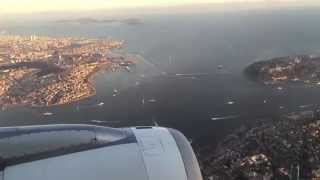 Download The Most Beautiful City: Istanbul 2015 - Turkish Airlines landing at Istanbul Atatürk Airport (HD) Video