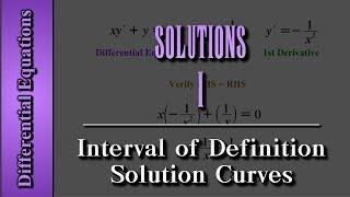 Download Differential Equations: Solutions (Level 1 of 4) | Interval of Definition, Solution Curves Video