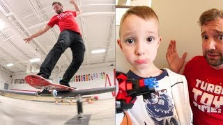 Download DAD & SON LEGO TIME! / Skateboarding At Work! Video
