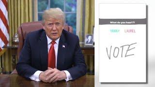 Download President Trump Hears 'Covfefe' in Yanny/Laurel Debate Video
